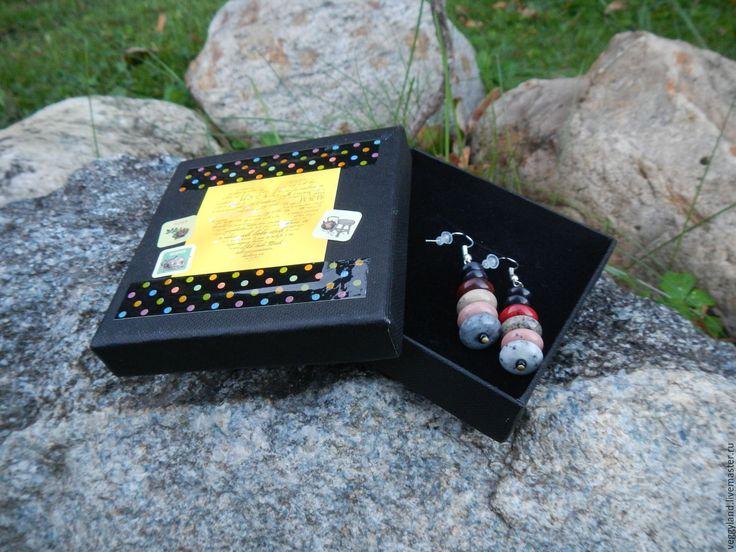 Купить Дзэн - разноцветный, камни, галька, дзэн, серьги с камнями, рустик, простота, черный, розовый