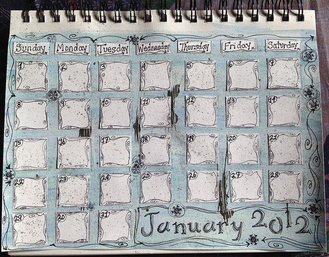 Calendar Art Journal : Best ideas about january calendar on pinterest
