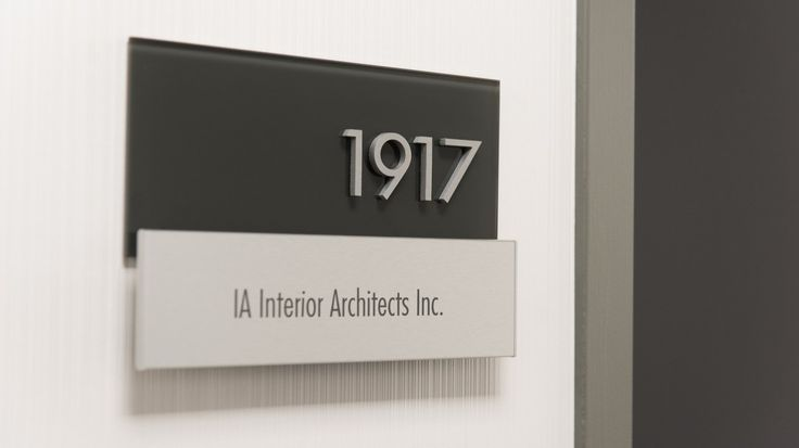 Interior Office Wayfinding Signage at 25 Adelaide St. E, Toronto, by Directional Designs.