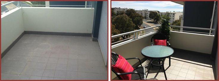 #MIJNVastgoedstijl Een balkon verkoopklaar gemaakt! Bron: http://allpropertystyling.com.au/?p=590