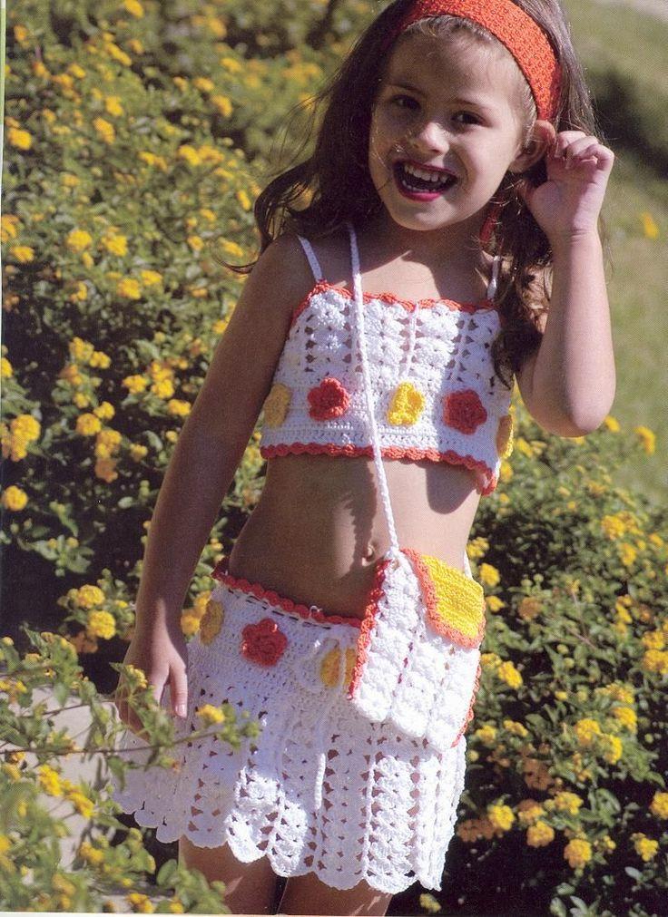 400 besten Häkelkleidung Kind & Baby / crochet dresses baby & Kids ...