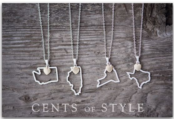 Custom Designed State Necklace-- I want a Missouri one!