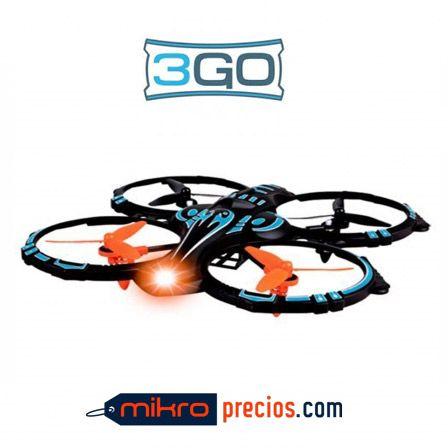 DRON 3GO HELLCAT-BL - CUADRICOPTERO - ALCANCE 30M - AUTONOMIA 10MIN - AJUSTE AUTONOMICO - GIROS 360º