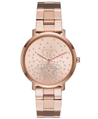 c0e5cc6a58e0 Michael Kors Women s Jaryn Rose Gold-Tone Stainless Steel Bracelet Watch  38mm