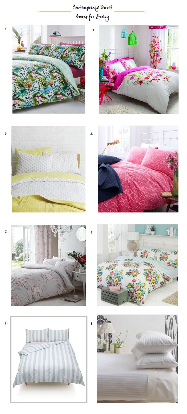 Contemporary Duvet Covers for a Spring Bedroom Refresh