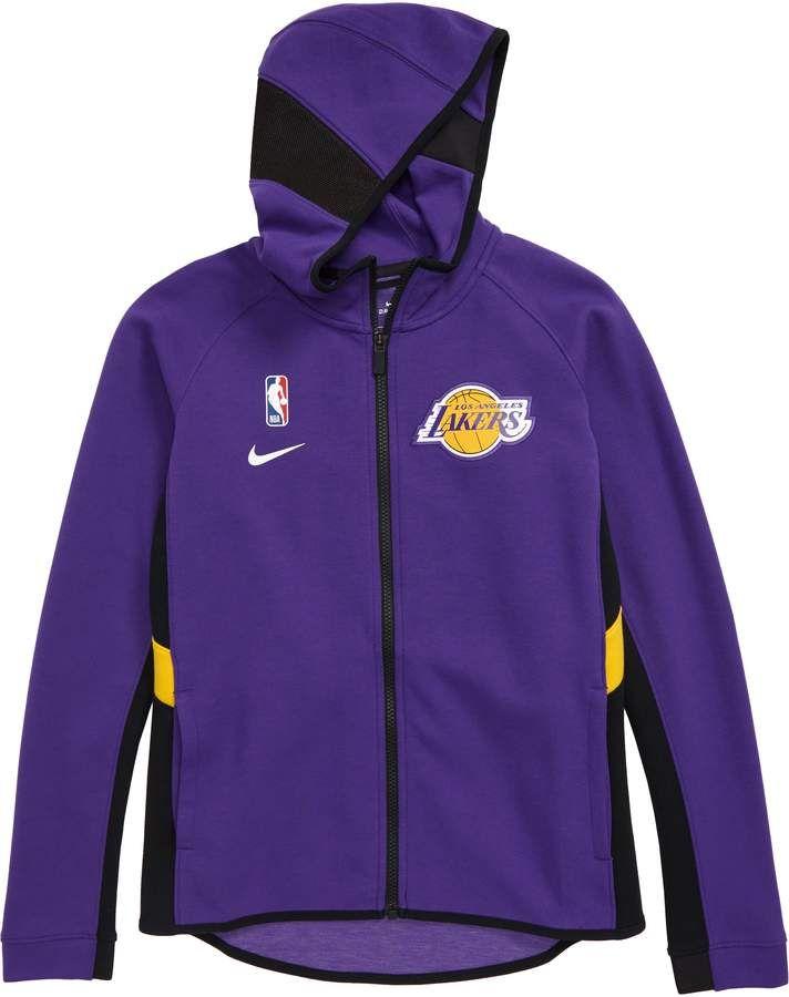 Nike Nba Los Angeles Lakers Dry Zip Up Hoodie Big Boys Nordstrom 2020