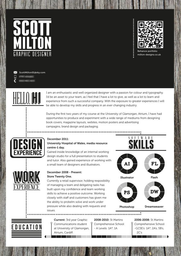 57 best Creative CV images on Pinterest Resume design, Creative - visual resume examples