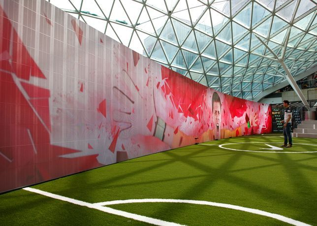 Nike Football Stadium Features My Time Is Now Theme