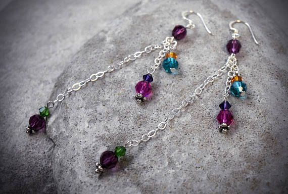 Hey, I found this really awesome Etsy listing at https://www.etsy.com/au/listing/531802553/extra-long-earrings-crystal-earrings