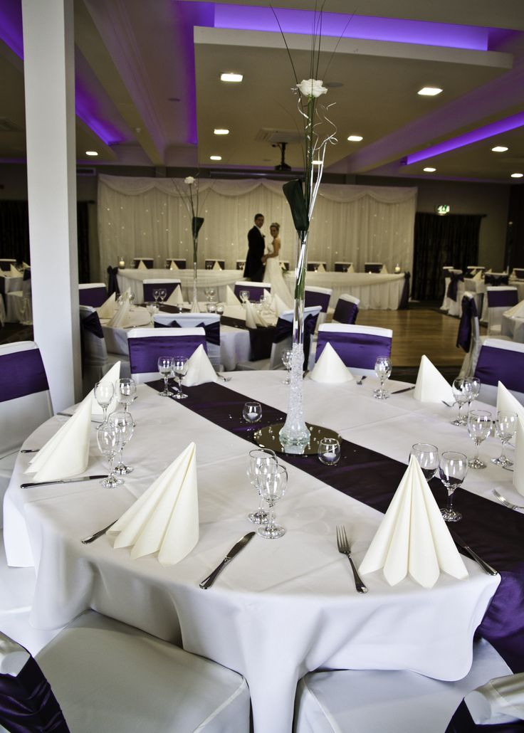 The Wyrebank Wedding Suite dressed to impress! Seating for up to 140 guests.