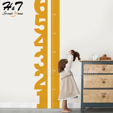Number Height Growth Chart Measure Vinyl Wall Sticker Decal Kids Baby Nursery