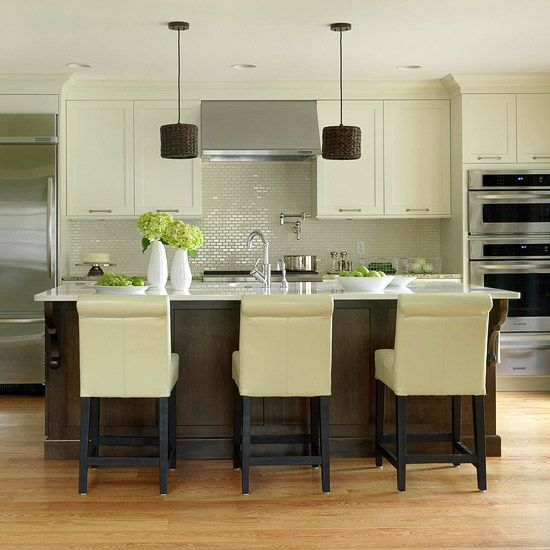 Kitchen Cabinets Island Shelves Cabinetry White Walnut Stone Modern Traditional Rustic Farmhouse: 86 Best Images About Narrow Kitchens, Pass Through Kitchens, Galley Kitchens On Pinterest