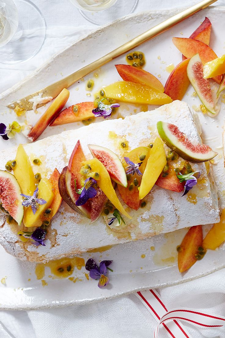 Put a festive touch on your pavlova roulade with our homemade eggnog cream and a variety of delicious Australia summer fruits - it'll make a stunning addition to any Christmas feast.
