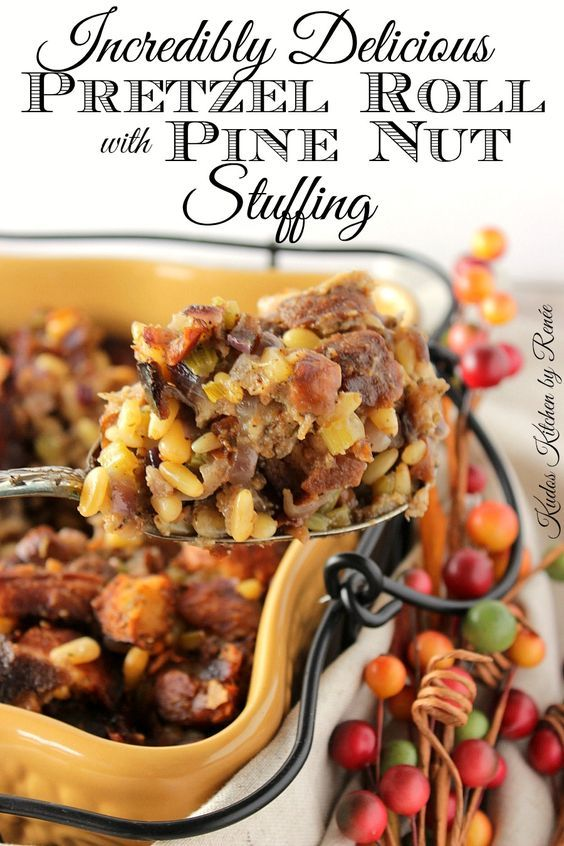 Incredibly Delicious Pretzel Roll Stuffing with Pine Nuts | Recipe