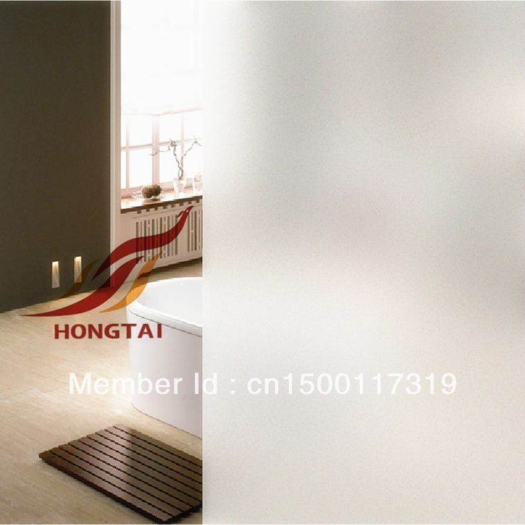 Free shipping , White self adhesive frosted privacy window film,60cm*10m Window Film Home Office Use $46.00