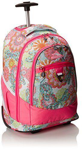 High Sierra Chaser Wheeled Backpack Pink