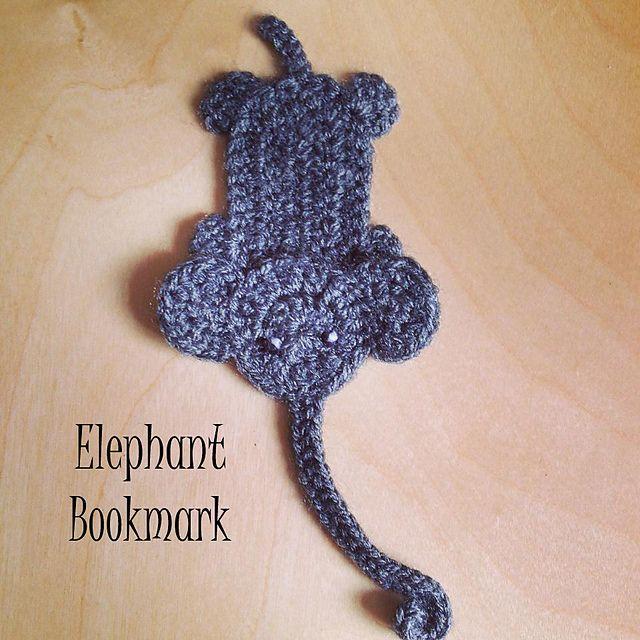 A cute little elephant bookmark (or applique design)