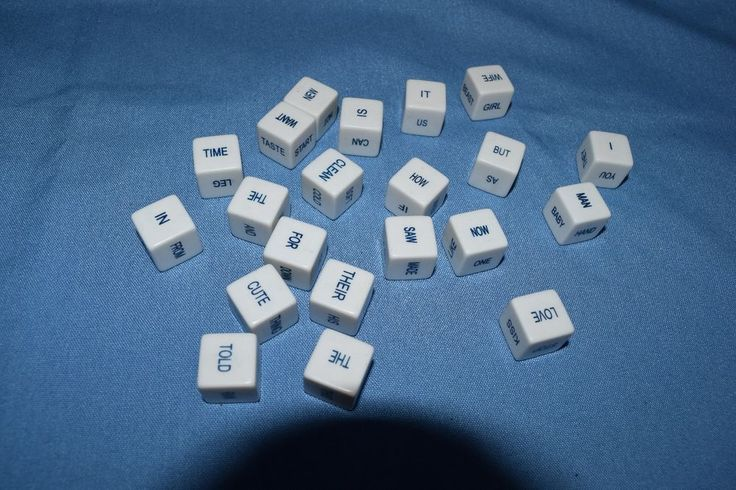 21 Sentence Game Cube Word Dice Scrabble Style Arts & Crafts Replacement Parts  #Puremco