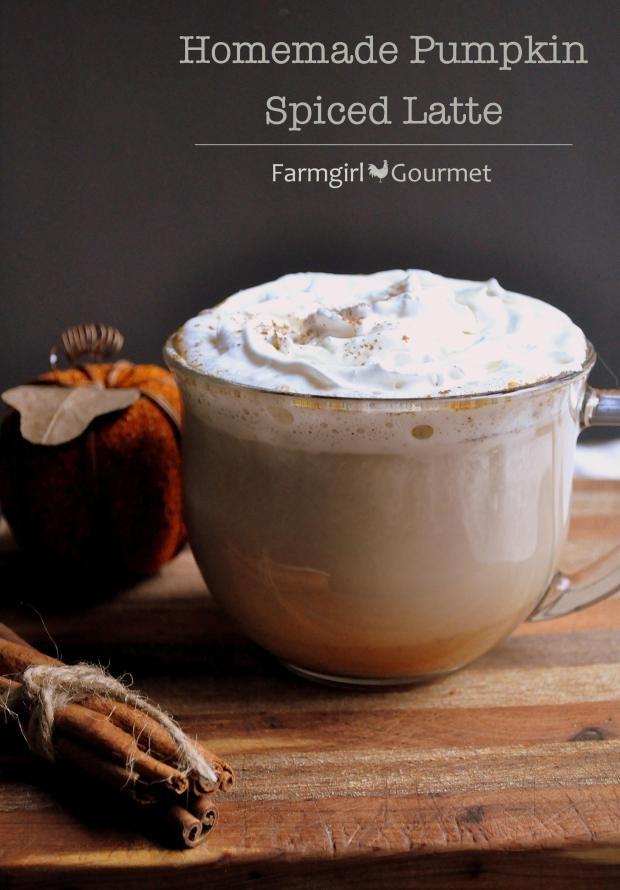 Homemade Pumpkin Spiced Latte - via farmgirlgourmet.com