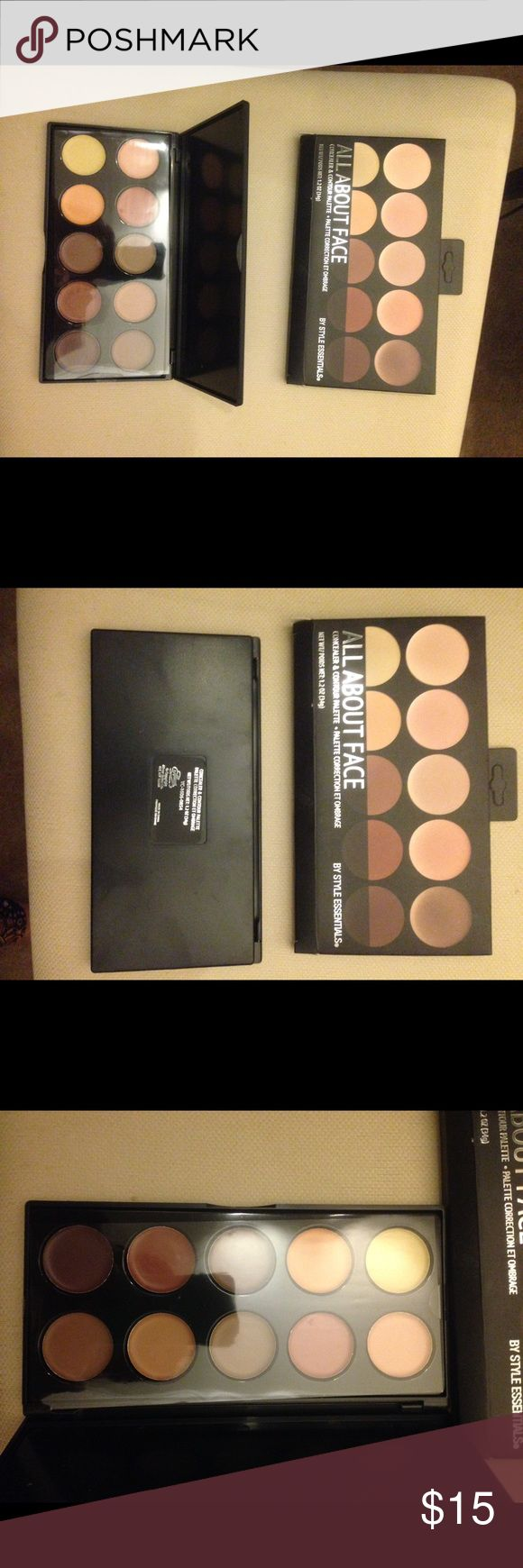 Concealer and Contour Palette CREAM  Nib All About Face Cream Contour Palette by Style Essentials New Unused Untested Sephora Makeup Concealer