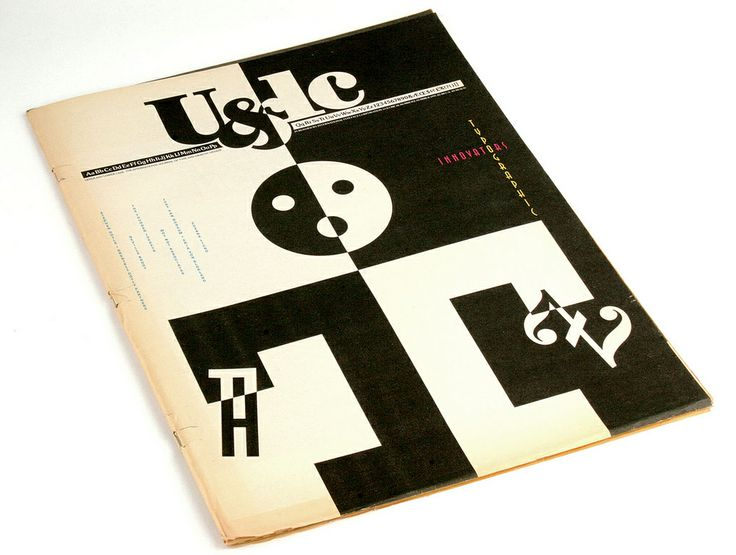 U&lc, 1991, Designed by Woody Pirtle, Pentagram