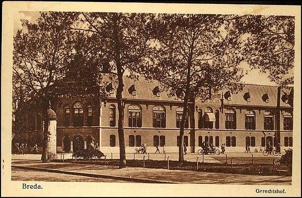 1915-1925 – Breda. Gerechtshof Nassaustraat/Kloosterlaan.