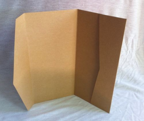 DL Pocketfold Invitation Kraft Paper Pocket Fold Wedding ...