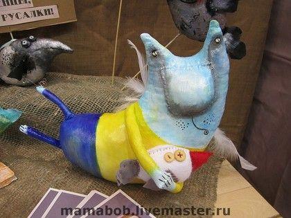 Игрушки животные, ручной работы. Ярмарка Мастеров - ручная работа. Купить Ангел-птицелов. Handmade. Кот, грунтованный текстиль