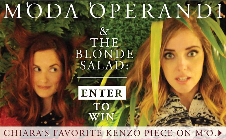 Pin this image and enter to win The Blonde Salad's favorite Kenzo piece on Moda Operandi!