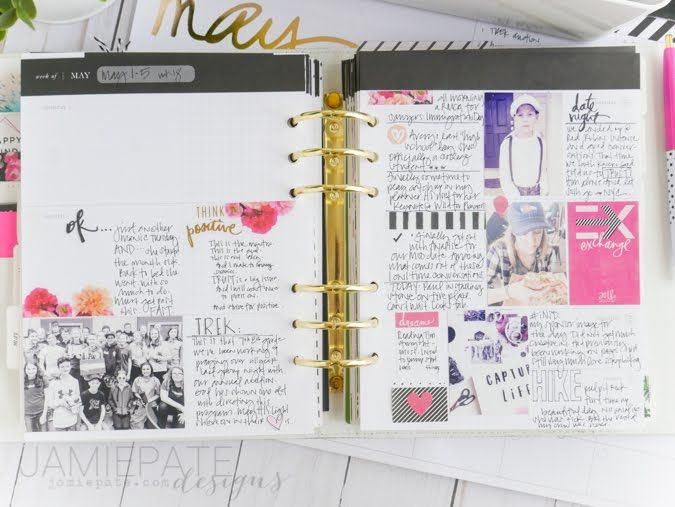 picture relating to May Books Planner titled May well Planner Recap through Jamie Pate @jamiepate Heidi Swapp