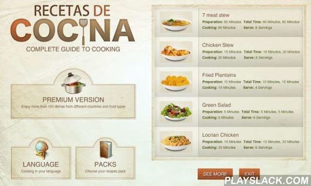 Recetas De Cocina Lite  Android App - playslack.com ,  Recetas de COCINAIs a complete guide to cooking- Choose from various food types- Dominican Food- Quick recipes list in main section- Display recipes by categories - Get in the kitchen to start cooking with Recetas de Cocina to help you!- Collect your ingredients- Step by step instructions- Watch the illustrations to see how to do the current step- 5 minutes to get ready. Recetas de Cocina will help, it will show you a timer to allow you…
