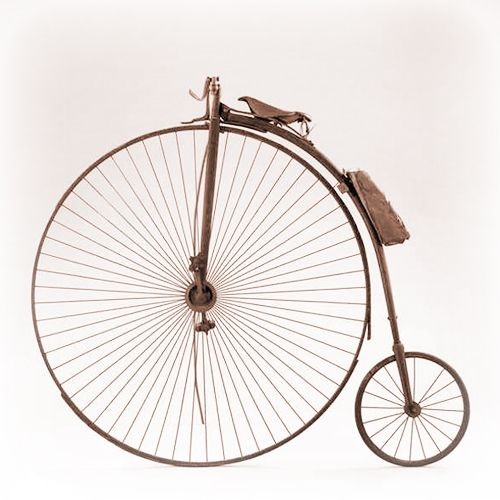 Decoración vintage con bicicletas tipo Grand Bi | Renard ~ 1870 • Vintage decor with Grand BI bikes