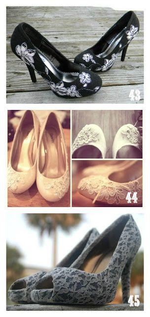 Lace diy shoes