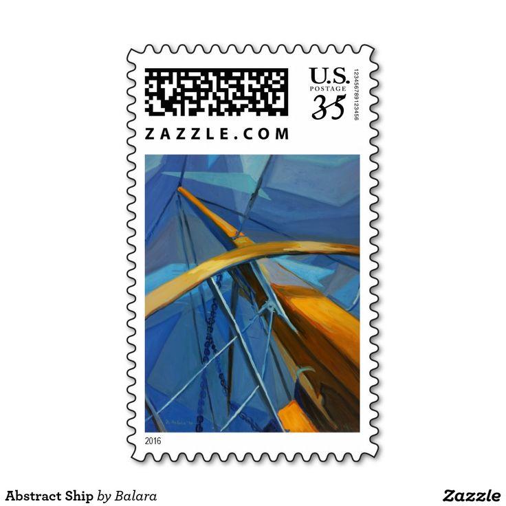 Abstract Ship Postage