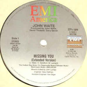 John Waite - Missing You (Vinyl) at Discogs