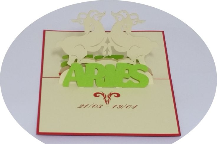Aries 21 March – 20 April - 3D Pop Up Cards - Greeting Cards - Ovid Gifts