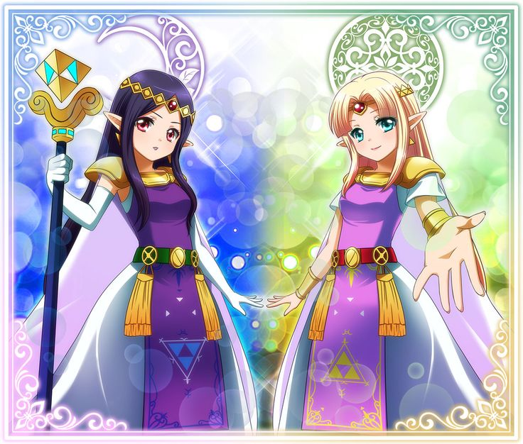 the legend of zelda a link between worlds    princess zelda and hilda