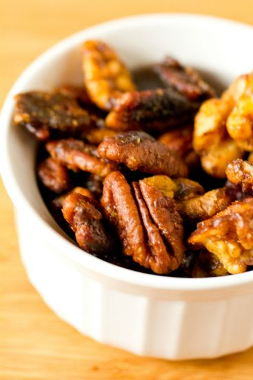 Sweet & Spicy Mixed Nuts. Made these on 11/21/14. Very very good! Will for sure make again...