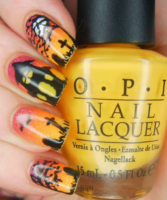 Then And Now - Halloween Haunted House - SpecialGirl Nails ...