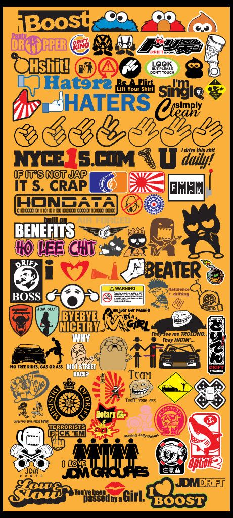 JDM Car Decals Vector files .EPS Format Volume by