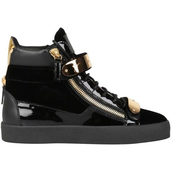 Giuseppe Zanotti May London sneakers (€850) ❤ liked on Polyvore featuring shoes, sneakers, black, rubber sole shoes, black sneakers, giuseppe zanotti trainers, black shoes and black rubber sole shoes
