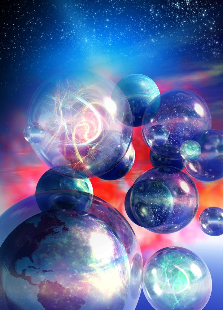 Our universe may be one of many, physicists say. In fact, that's the most likely scenario.    (Top 5 Reasons We Might Live in a Multiverse | Hidden Universes | LiveScience)