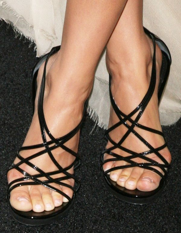 a35b1dcc156bed Camilla Belle showing off her feet in black strappy sandals ...