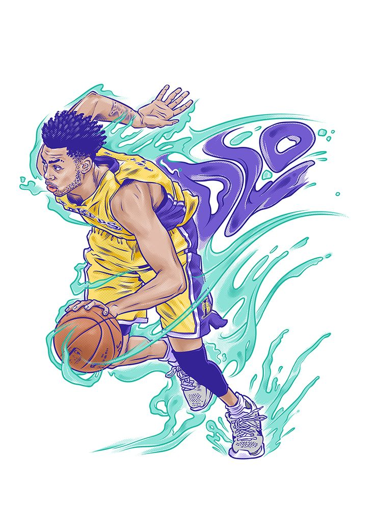 Los Angeles Lakers rookie D'Angelo Russell downloads right in front of your eyes in this animation.