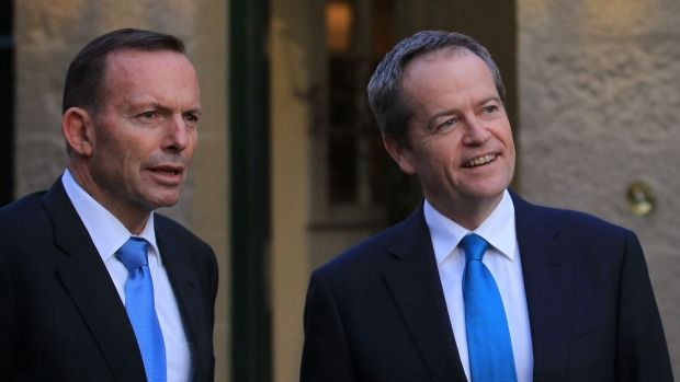 July 6, 2015  EXCLUSIVE Popularity blues: Tony Abbott and Bill Shorten meet at Kirribilli House on Sunday evening. Popularity blues: Tony Abbott and Bill Shorten meet at Kirribilli House on Sunday ... http://winstonclose.me/2015/07/06/bill-shorten-tony-abbott-hit-by-popularity-nose-dive-fairfax-ipsos-poll-written-by-james-masola/