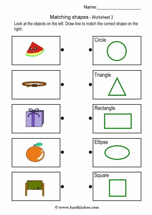 Matching Objects Worksheets For Preschoolers Top Matching Object With Shape Brain Tease Shapes Worksheet Kindergarten Shapes Worksheets Kindergarten Worksheets Matching shapes worksheets for kindergarten