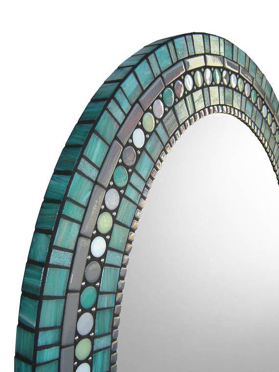 Oval Mirror Mosaic Mirror Bathroom Mirror Custom Mirror