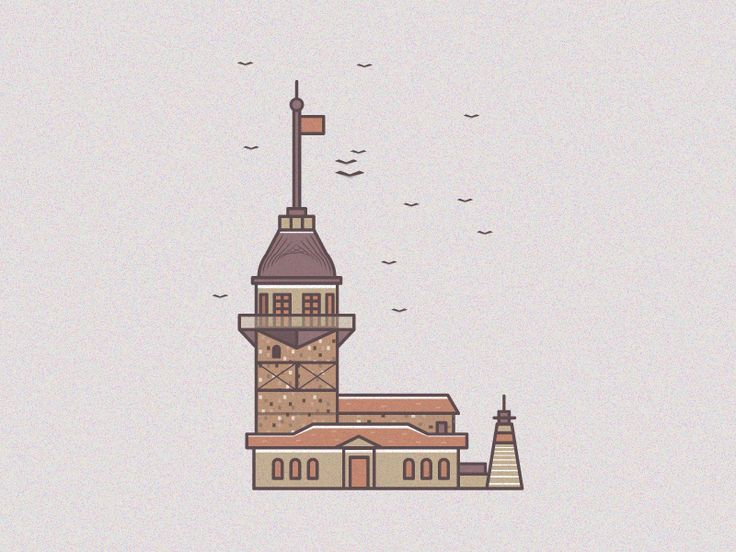 istanbul maiden tower illustration