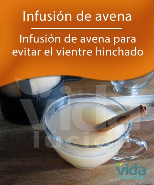 Infusión de avena para desinflamar el vientre