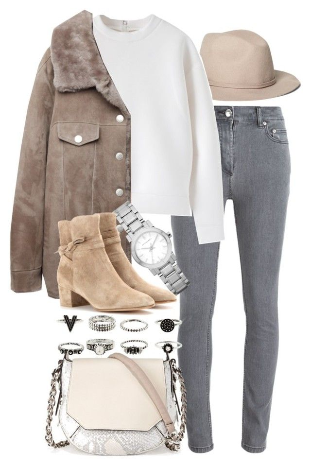 """""""Untitled #7712"""" by nikka-phillips ❤ liked on Polyvore featuring Brooks Brothers, Marc by Marc Jacobs, Acne Studios, Burberry, Gianvito Rossi and rag & bone"""